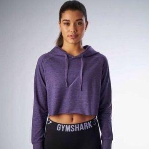 Gymshark Cropped Hoodie - Hearhered Purple